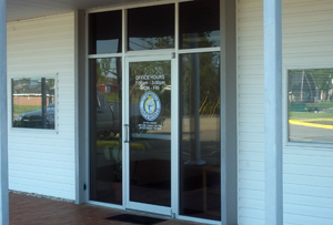Front door to the Customer Service Office